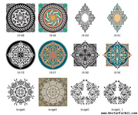 arabesque pattern ai arabesque vectorforall