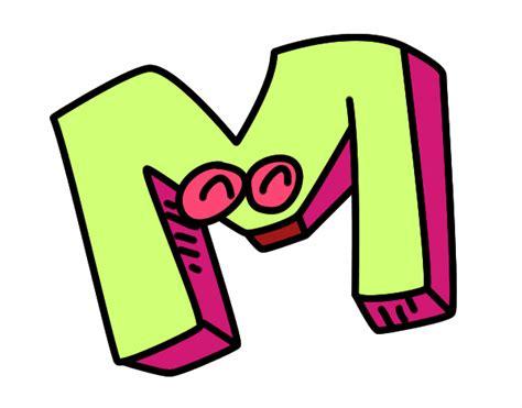 desenho de letra m pintado desenho de letra m pintado e colorido por usu 225 n 227 o registrado o dia 29 de outobro do 2015