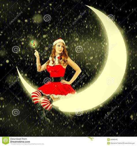 imagenes d santa claus sexi christmas card woman in santa claus clothes stock image