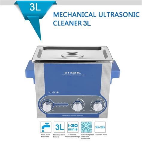 Ultrasonic Cleaner Stenlis Digital Timer With 30w 50w Power 3l ultrasonic cleaner ultra sonic bath with heating timer stainless steel tank ebay