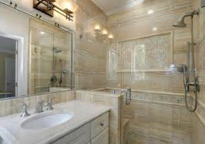 Sandstone bathroom with white vanity home design examples