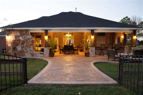 creating outdoor spaces for country living a taste of the hill country in richmond texas custom patios