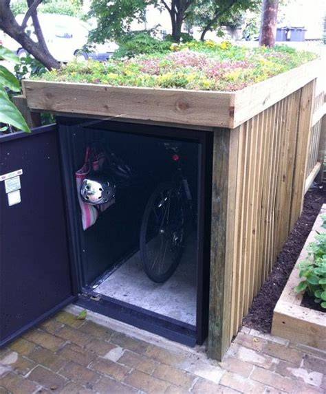 backyard storage units outdoor bike storage units green roofs bike storage