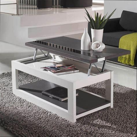 table basse table basse blanche ou grise avec plateau