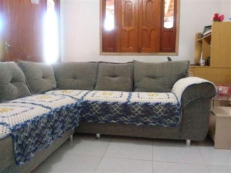 capa para sofa de canto fotos capa para sof 225 de canto em barbante elienes de oliveira
