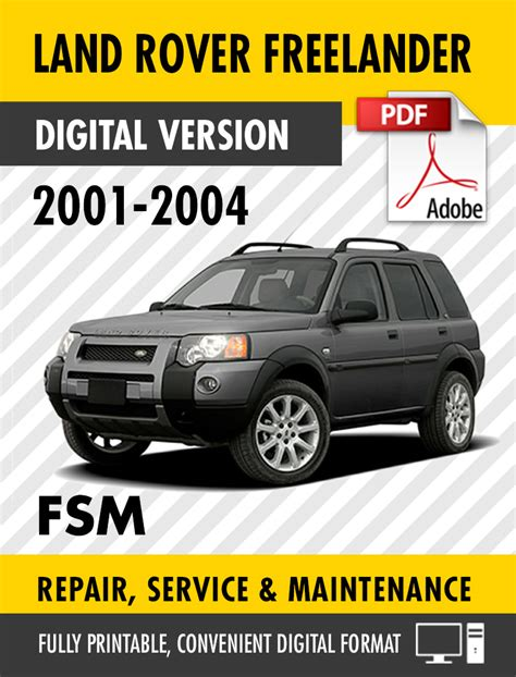service manual 2001 land rover freelander service manual free download service manual online