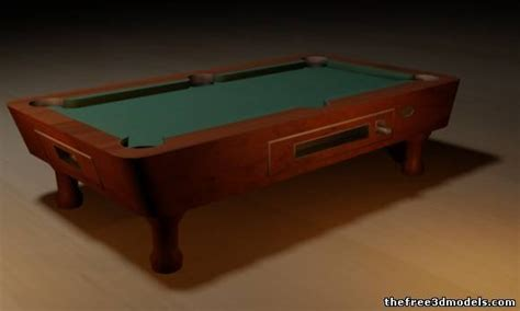 Free Pool Table by Pool Table 3d Model 3ds Max Sldprt