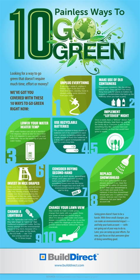 ways to go green at home ways to go green at home 28 10 painless ways to go green an infographic