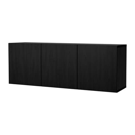 wall mount besta best 197 wall mounted cabinet combination black brown