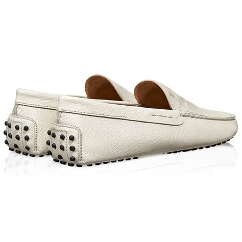 tod s gommino driving shoes in white for lyst