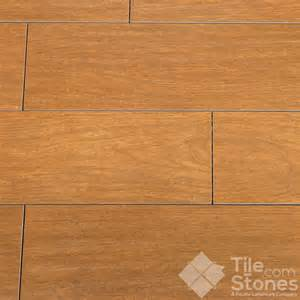handscraped cherry 6x24 wood plank porcelain tile