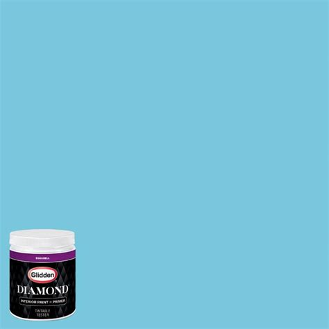 glidden 8 oz hdgb41u by the sea eggshell interior paint with primer tester hdgb41ud