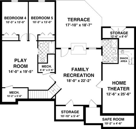 3 bedroom house plans with basement the blue ridge 8435 3 bedrooms and 2 5 baths the house