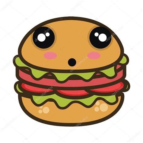 imagenes de comida rapida kawaii kawaii cartoon burger fast food stock vector 169 yupiramos