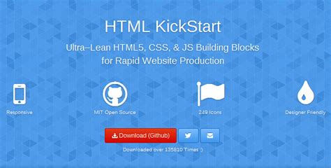 html kickstart themes 极力推荐的8个最好的html css框架 html5综合 html5之家 国内最大的html5学习平台