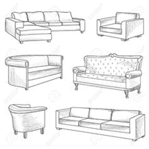 how to draw a 3d sofa sofa drawing set of sofas drawings sketch style vector