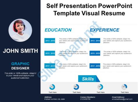 Self Presentation Powerpoint Template Visual Resume Powerpoint Slides Diagrams Themes For Visual Ppt Templates