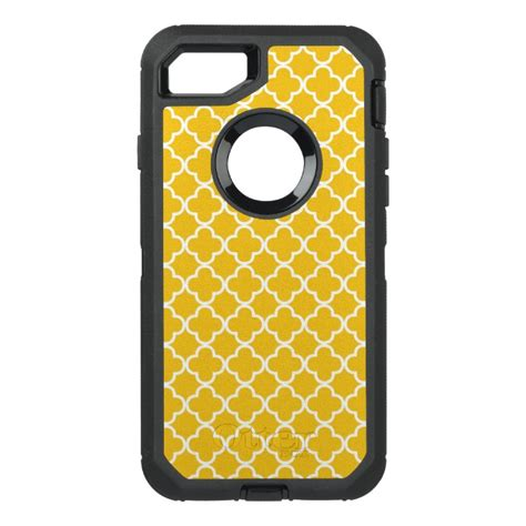 yellow pattern iphone case bright yellow quatrefoil pattern otterbox defender iphone