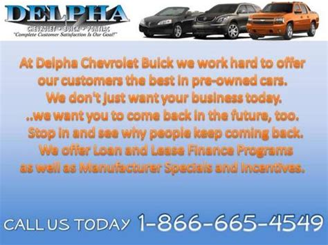 delpha chevrolet delpha chevrolet buick delphos oh 45833 car dealership