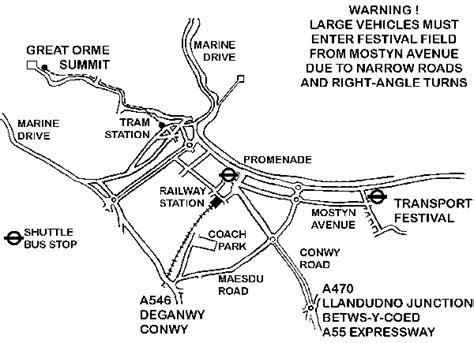 printable street map of llandudno llandudno transport festival page