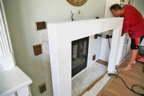 Building A Fireplace Surround by Diy Wood Beam Mantel