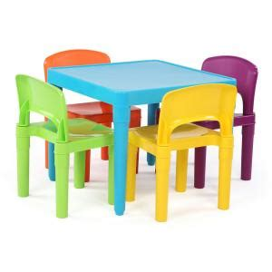 childrens plastic table and chairs homebase tot tutors playtime 5 aqua plastic table and