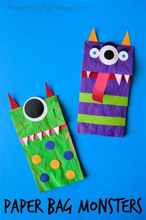 Paper Bag Crafts For - 17 best ideas about puppet crafts on minion