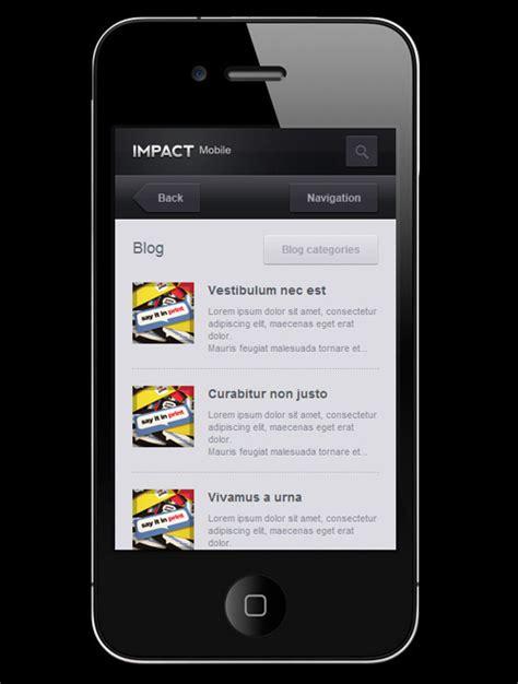 mobile site template 45 mobile website templates