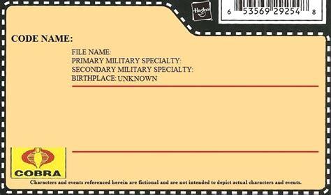 gi joe file card template custom file cards hisstank