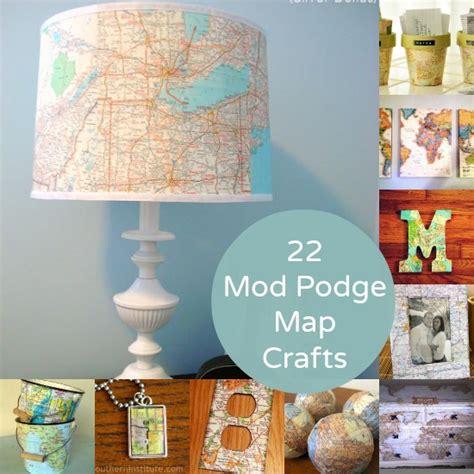 modge podge crafts for 22 mod podge map crafts you ll mod podge rocks