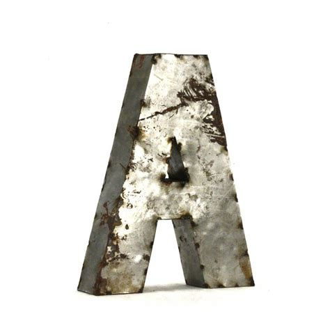 Metal Letters by Zentique Small Metal Letters Metal Letter A