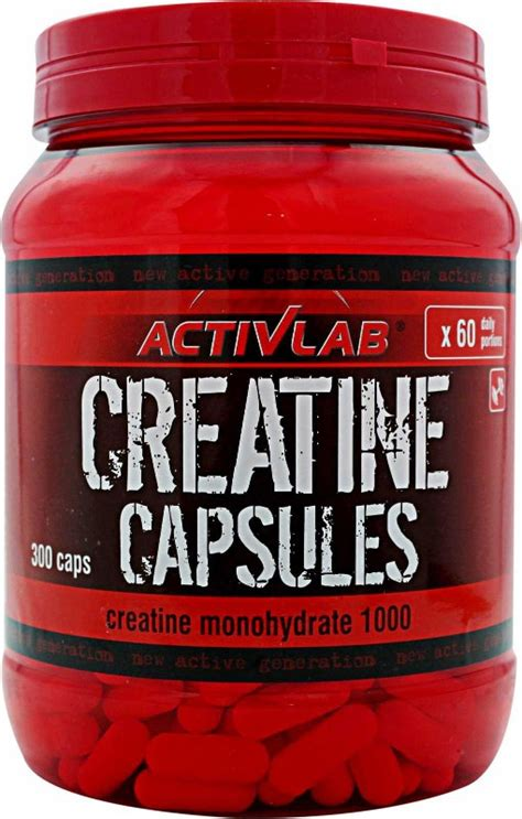 Creatine Tablets To Help Detox Thc by Activlab Creatine Capsules 300 Caps Bodybuilding And