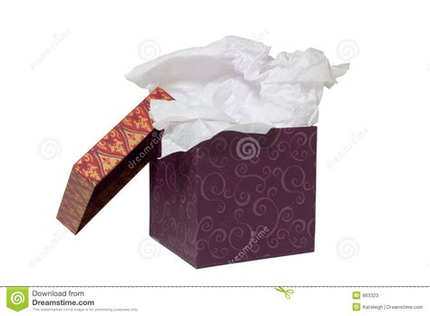 With Tissue Paper - box with tissue paper on white stock photos image 663323