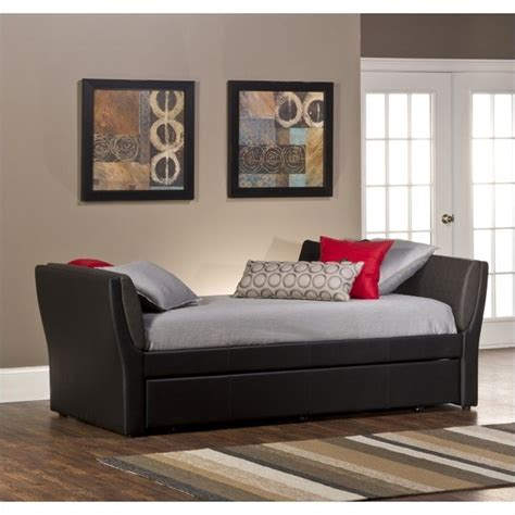 Black Daybed With Trundle Hillsdale Natalie Daybed With Trundle In Black 1147dbt