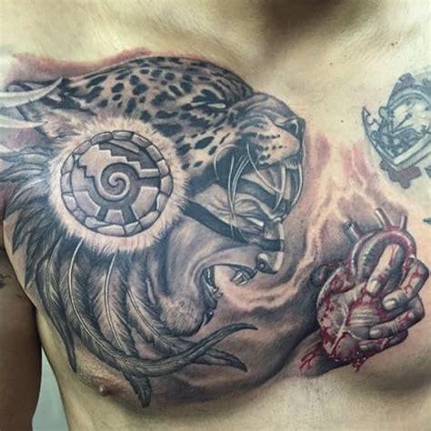 jaguar tattoo on chest 20 aztec jaguar tattoos