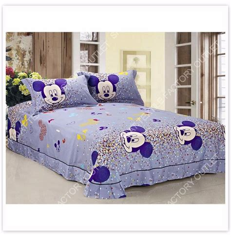 Bed Cover Minnie Ribbon Import gift mickey minnie mouse print bedding sets comforter cover set sp2252 ebay