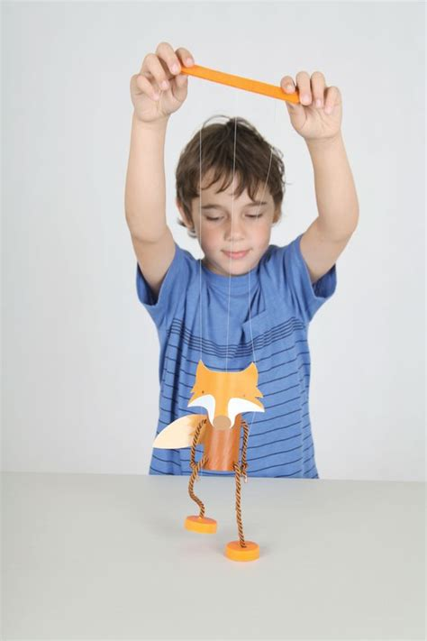 How To Make A Paper Fox Puppet - diy fantastic mr fox puppet marionette from toilet rolls