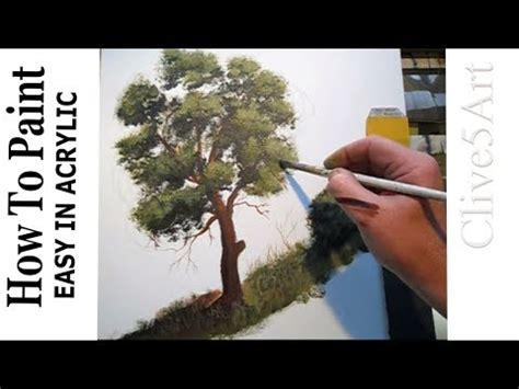 5 Painting Techniques by How To Paint A Tree Acrylic Painting Lessons For