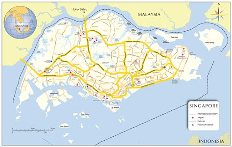 map of singapore singapore map asia