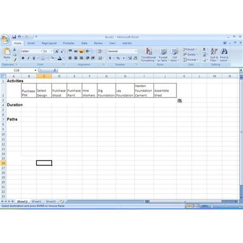 How To Use Excel In The Critical Path Method Cpm Cpm Schedule Template