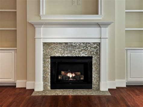 Pillar Candle Wall Sconce Granite Lantern Fireplace Surrounds With Mosaic Tile