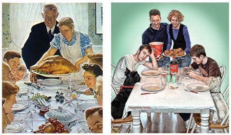 norman rockwell dinner table rockwell s thanksgiving parodies