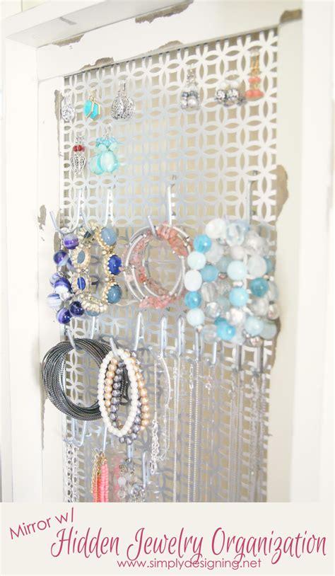 Mirror  Hidden Jewelry Storage Diy Space Saver Jewelry