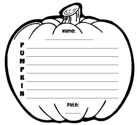 Pumpkin Shape Book Template