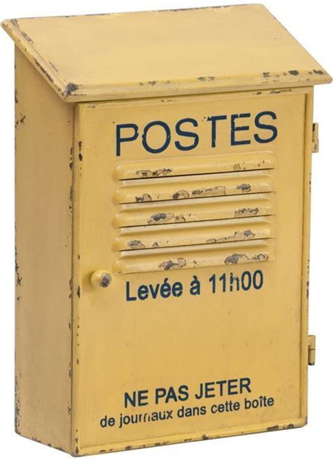 Boite A Clefs by Range Courrier Postes Jaune