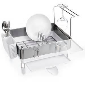 simplehuman compact steel frame dish rack polyvore