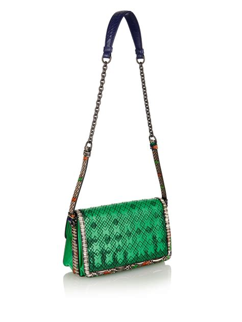 Bottega Veneta Colibri Bag by Lyst Bottega Veneta Intrecciato Leather And Snakeskin