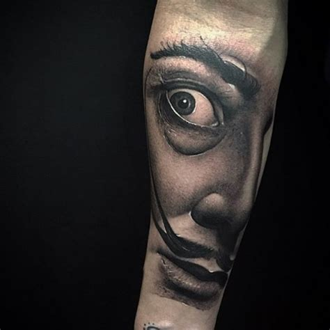 salvador dali tattoo designs realistic salvador dali portrait best