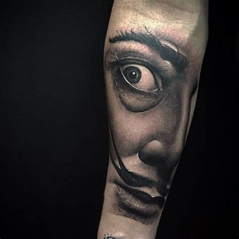 salvador dali tattoo designs realistic salvador dali portrait best