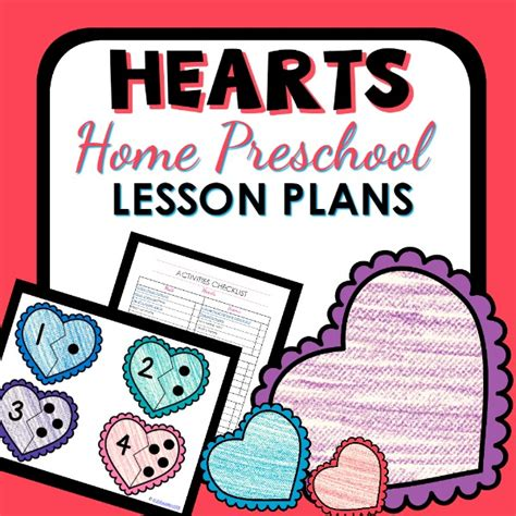 home preschool lesson plans hearts theme home preschool